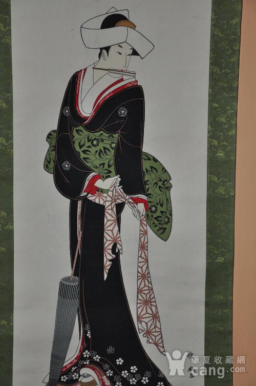 日本粉彩仕女画图6