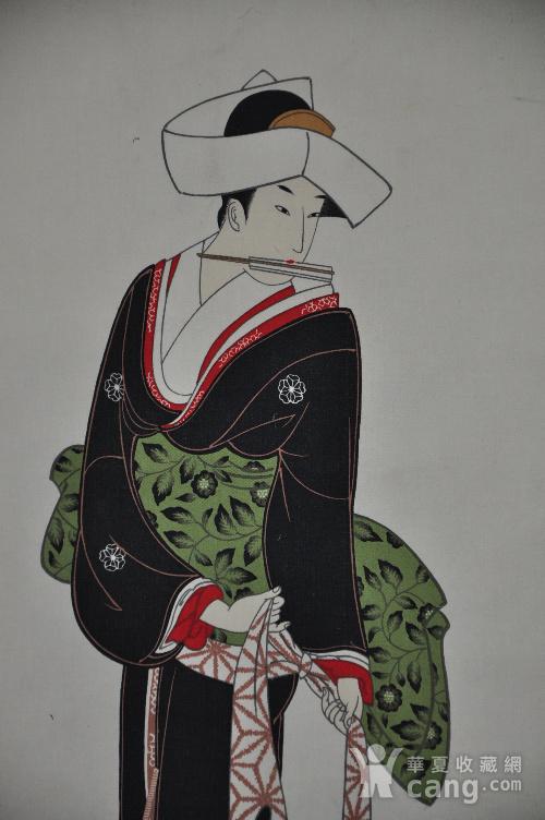 日本粉彩仕女画图5