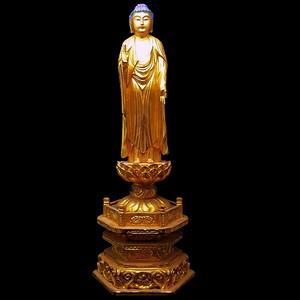 精品 民国木胎鎏金佛像