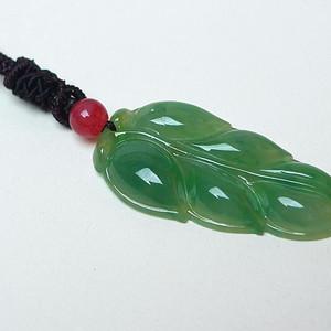 冰种满绿金枝玉叶吊坠