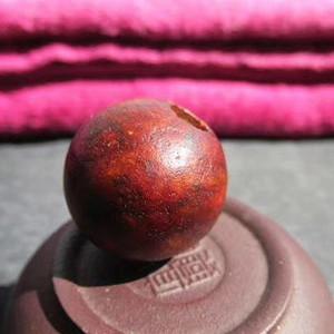 玉珠 包浆老道 皮壳熟润 沁色漂亮