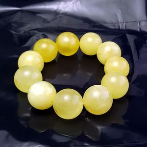 收藏品 61.48克原矿白花蜜蜡22mm圆珠手串