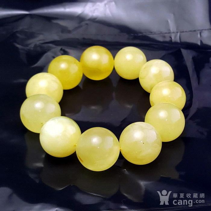 收藏品 61.48克原矿白花蜜蜡22mm圆珠手串图1