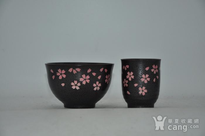 日本酱釉粉彩茶具一套图1