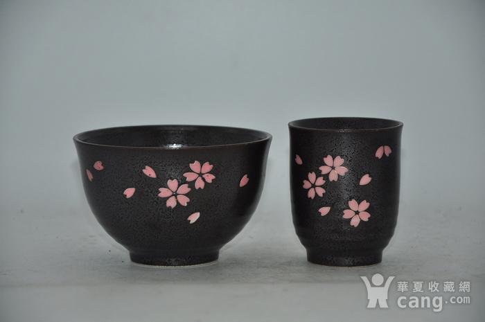 日本酱釉粉彩茶具一套图3