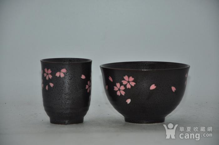 日本酱釉粉彩茶具一套图2