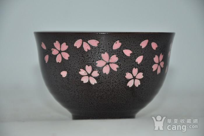 日本酱釉粉彩茶具一套图4