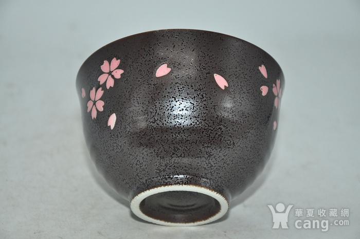 日本酱釉粉彩茶具一套图7