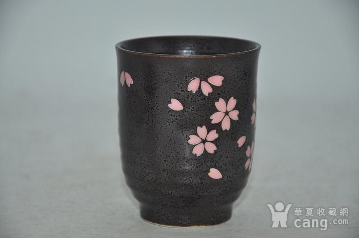 日本酱釉粉彩茶具一套图9