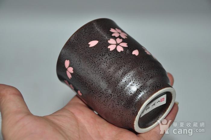 日本酱釉粉彩茶具一套图11