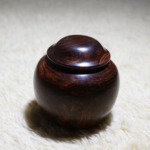 海南黄花梨围棋罐