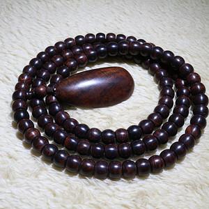 老料海南黄花梨紫油梨10 8mm藏式鼓珠