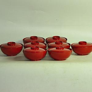 日本漆器盖碗八个
