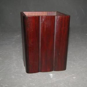 老红木笔筒