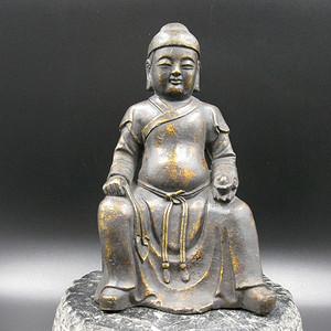 欧洲回流 黄铜财神像
