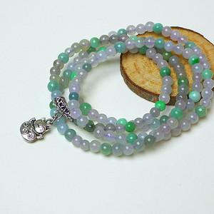 冰种带阳绿圆珠项链