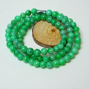 冰润满绿圆珠项链