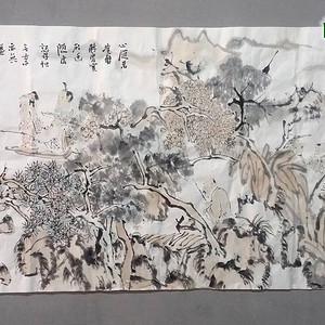 军旅画家 裴开元  古人诗意图