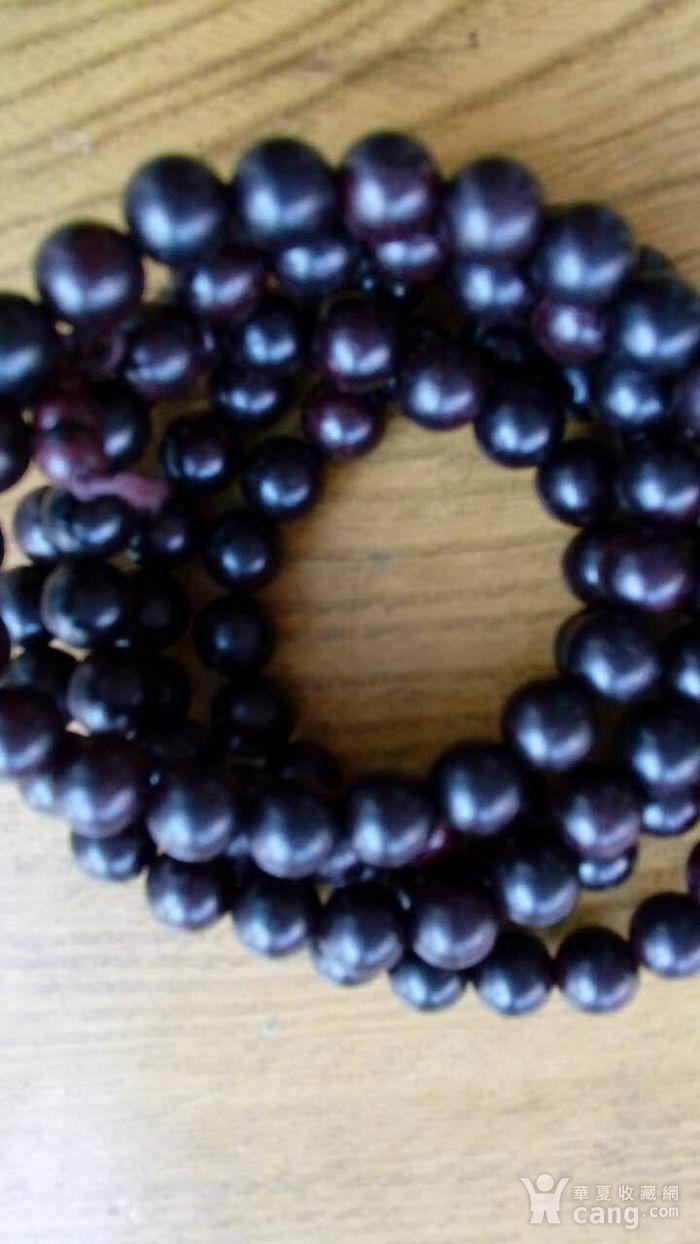 印度老料紫檀108 佛珠手串图1