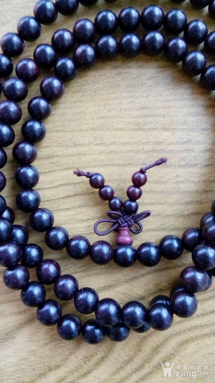 印度老料紫檀108 佛珠手串图2