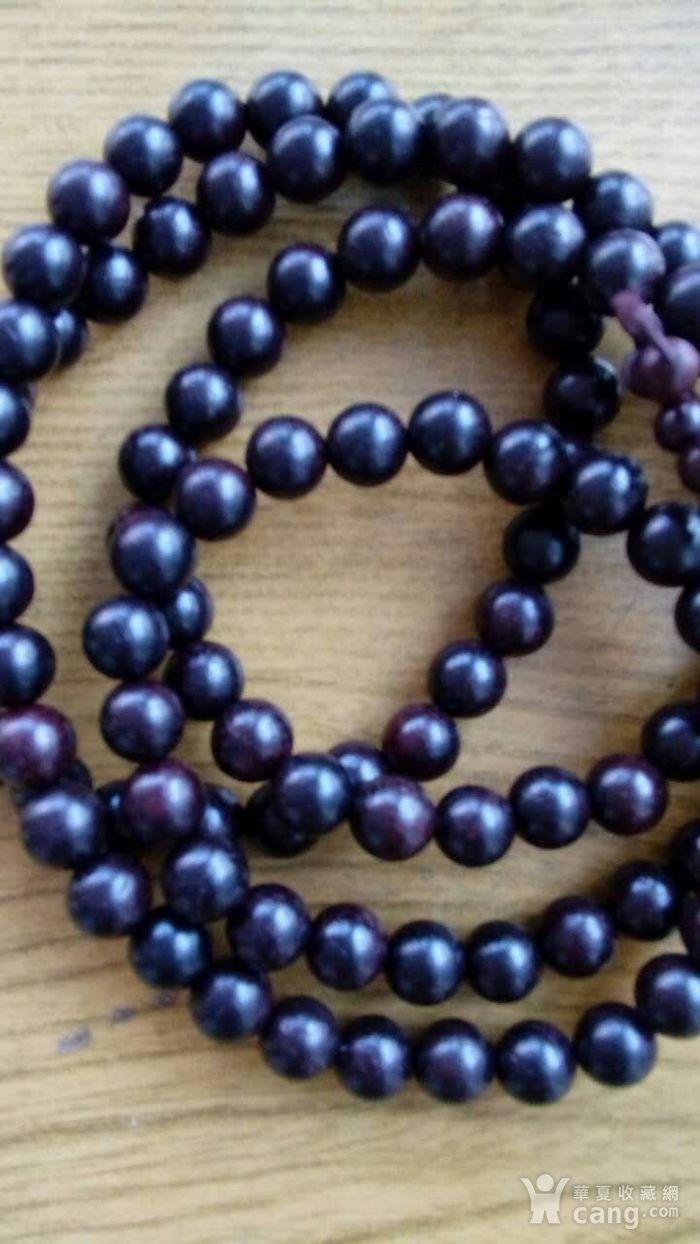 印度老料紫檀108 佛珠手串图5