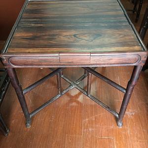 拆叠式红酸枝茶桌