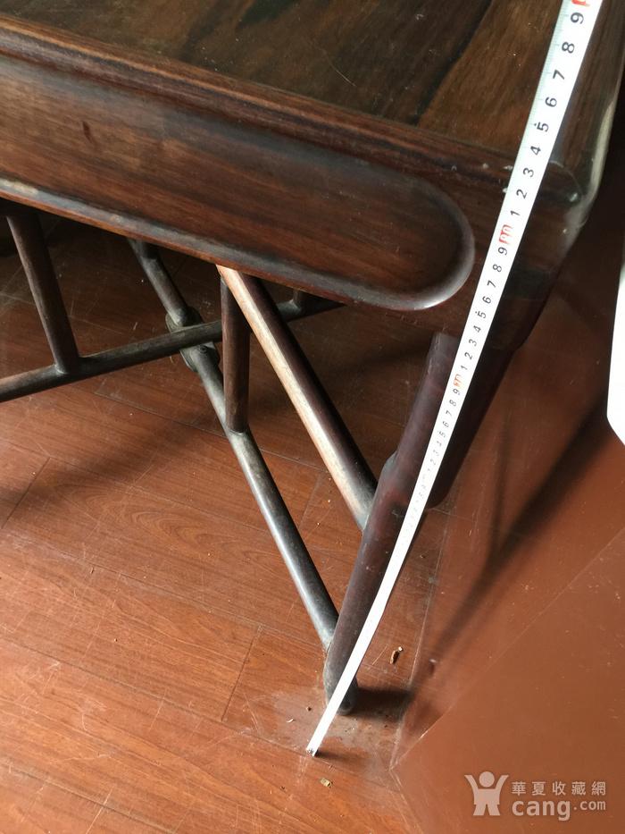 拆叠式红酸枝茶桌图9