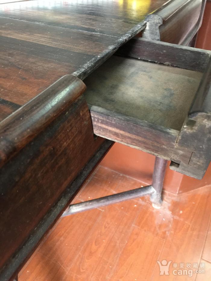 拆叠式红酸枝茶桌图11