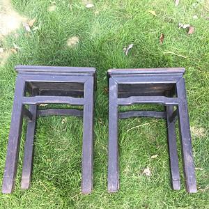 铁力木方凳一对