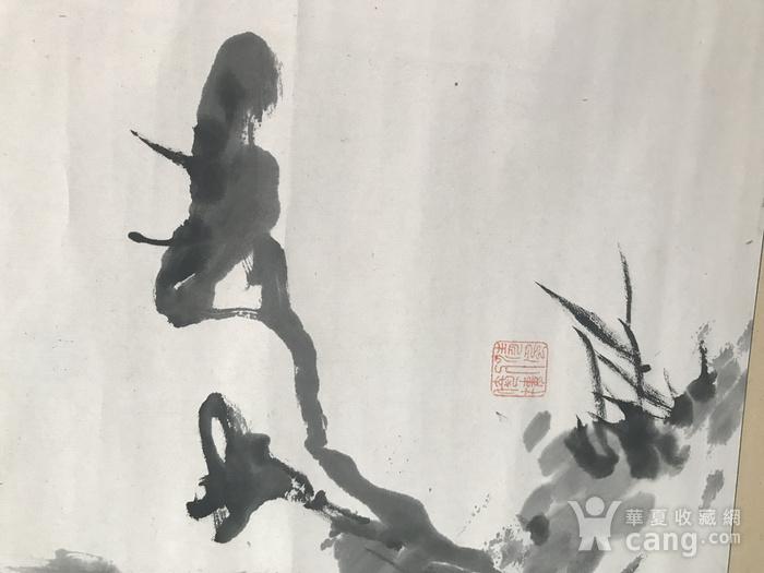 清代灵芝兰花图图4