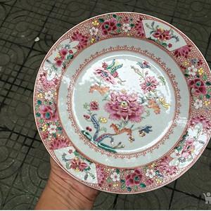 乾隆粉彩花卉纹盘 联盟