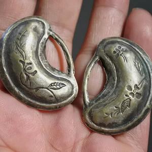 铜鎏银, 长命百岁 锁一对