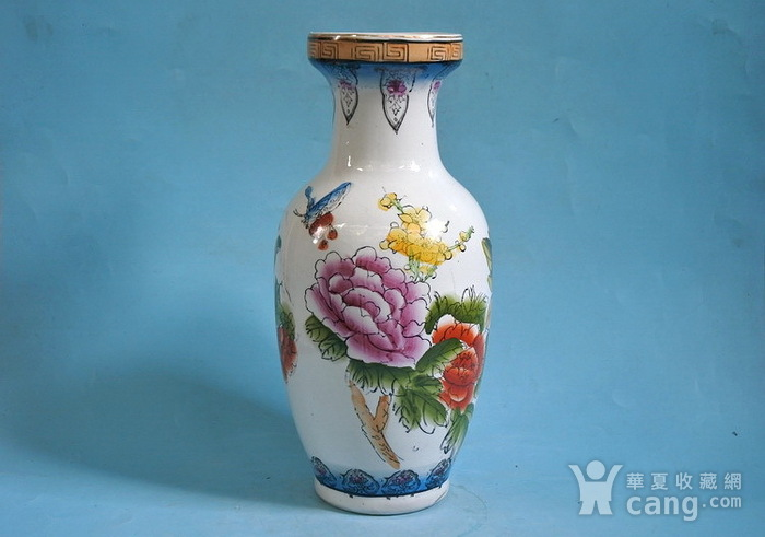 老厂货, 孔雀牡丹 花瓶图2