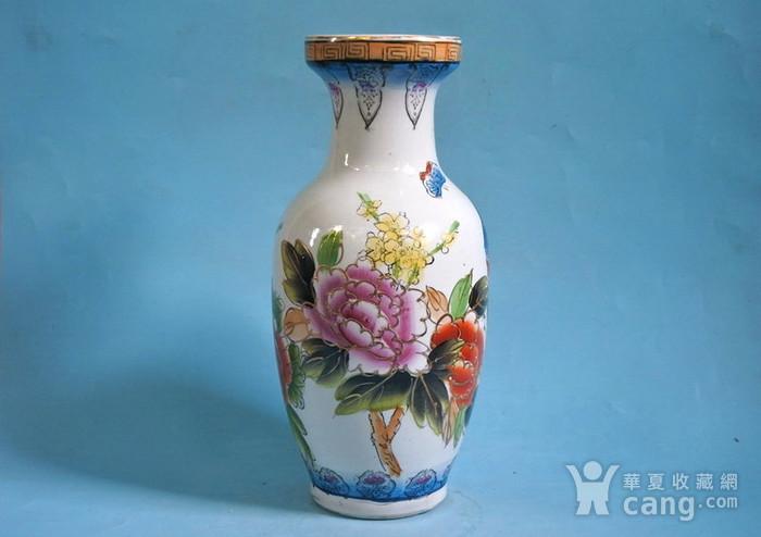老厂货, 孔雀牡丹 花瓶图3