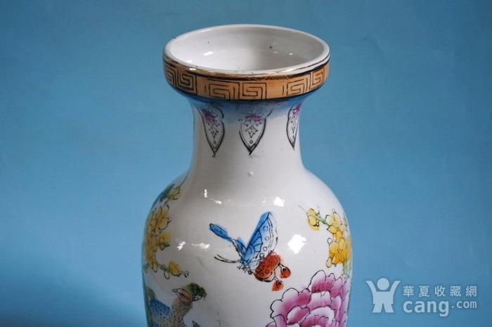 老厂货, 孔雀牡丹 花瓶图5