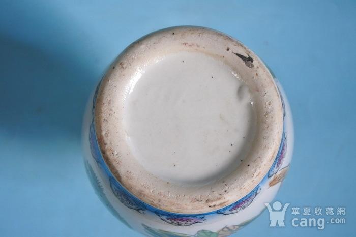 老厂货, 孔雀牡丹 花瓶图7