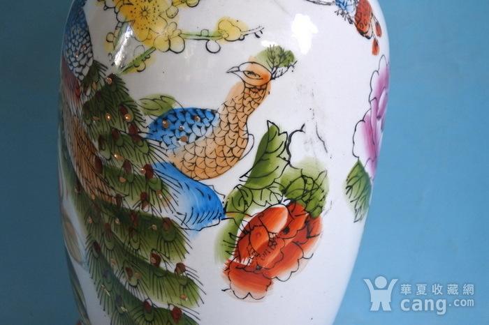 老厂货, 孔雀牡丹 花瓶图8