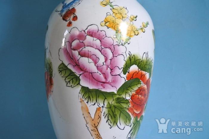 老厂货, 孔雀牡丹 花瓶图9