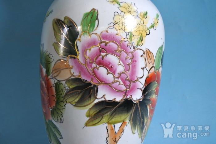 老厂货, 孔雀牡丹 花瓶图10