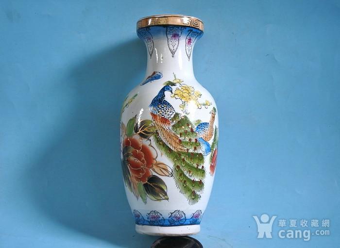 老厂货, 孔雀牡丹 花瓶图11