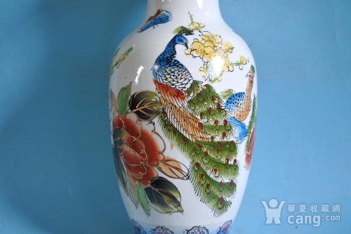 老厂货, 孔雀牡丹 花瓶图12