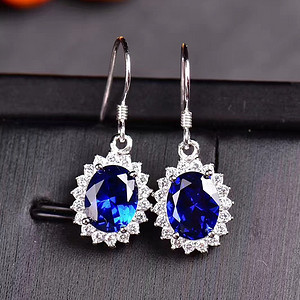 炫彩蓝宝石耳坠