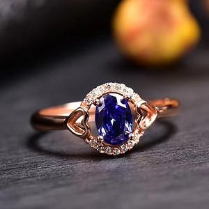 炫彩坦桑石戒指