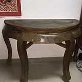 全榉木半圆桌
