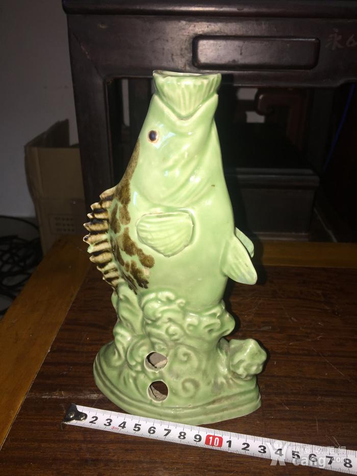 瓷的石斑鱼台灯架图2