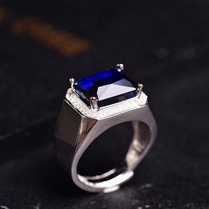 炫彩红宝石戒指