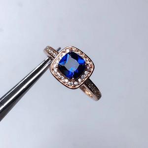 炫彩蓝宝石戒指