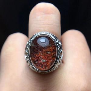 天然彩幽灵戒指
