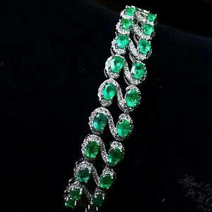 天然祖母绿手链