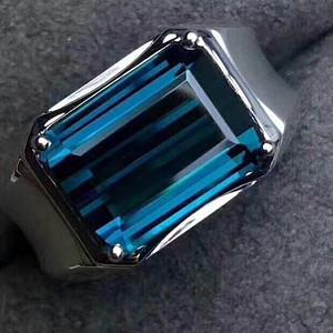 天然蓝托帕石戒指